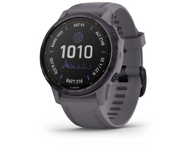Garmin Fenix 6S Pro Solar GPS Smartwatch dark grey/purple